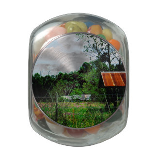 Rural Road Glass Candy Jars