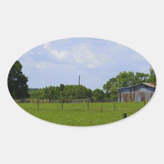 Rural Road Oval Sticker