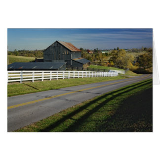 Rural road through Bluegrass region of 2 Card