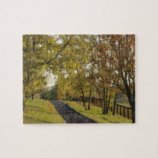 Rural road through Bluegrass region of Kentucky 2 Jigsaw Puzzle