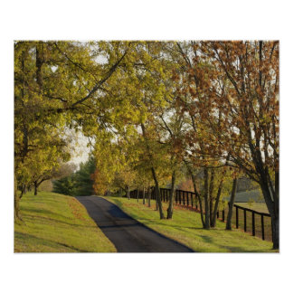 Rural road through Bluegrass region of Kentucky 2 Poster