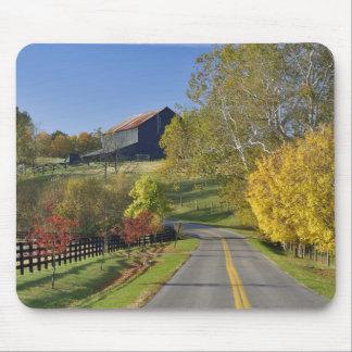 Rural road through Bluegrass region of Kentucky Mouse Pad