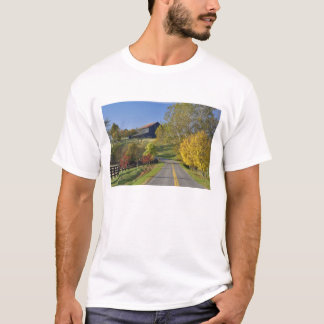 Rural road through Bluegrass region of Kentucky T-Shirt