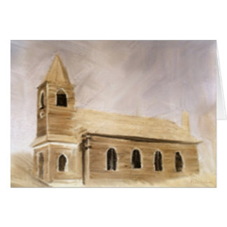 Rural Rustic Wooden Church Cards
