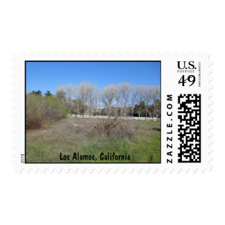 Rural Scene in Los Alamos, California Postage
