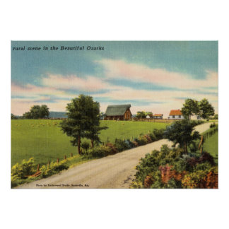 Rural Scene In The Beautiful Ozark Mountains Poster