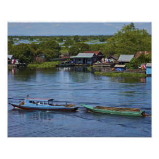 Rural scene Tonle Sap Lake Siem Reap Angkor Print