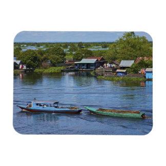 Rural scene, Tonle Sap Lake, Siem Reap, Angkor, Rectangular Photo Magnet