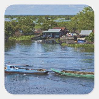 Rural scene, Tonle Sap Lake, Siem Reap, Angkor, Sticker