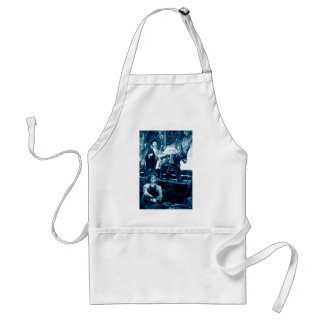 Rural scene with puppets adult apron