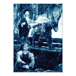 Rural scene with puppets 5x7 paper invitation card
