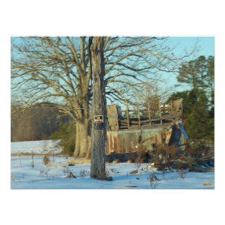 Rural Snow Scene Photo Print