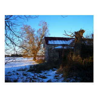Rural Snow Scene Postcard