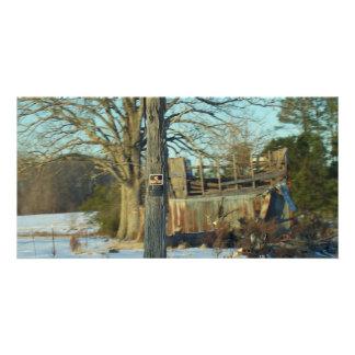 Rural Snow Scene - Wilson County, NC Custom Photo Card