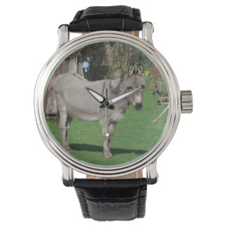 Rural Still Life With Donkey Wrist Watches