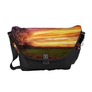 Rural Sunset Burst Courier Bag