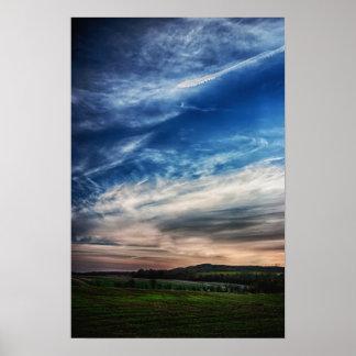 Rural Sunset Landscape Poster