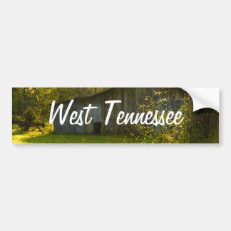 Rural Tennessee Spring Morning Light Car Bumper Sticker