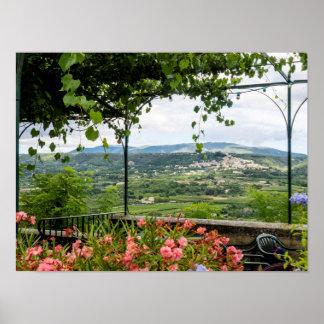 Rural Town Landscape, France Poster