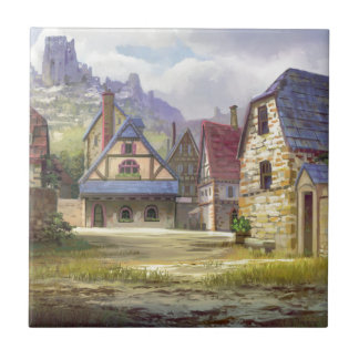 Rural Town My Birthplace Ceramic Tile