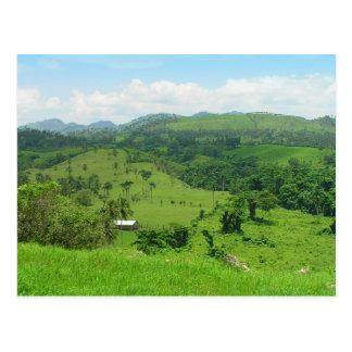 Rural view, Dominican Republic postcard