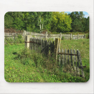 Rural View with Wooden Fences Photo Mouse Pad