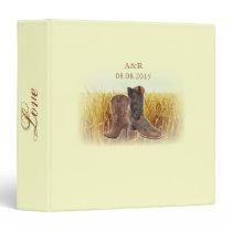 rural wheat farm western cowboy wedding binder