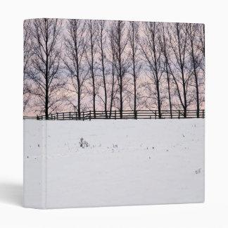 Rural winter landscape 3 ring binders
