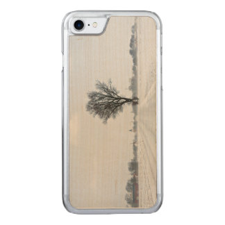 Rural winter road carved iPhone 8/7 case