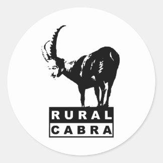 Ruralcabra Pegatina Redonda