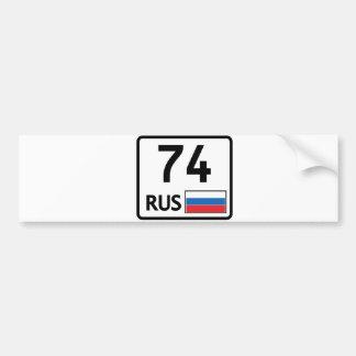 RUS. Chelyabinsk. 74 Bumper Sticker