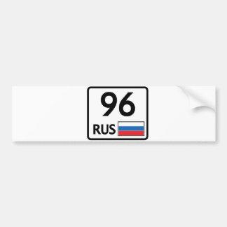 RUS. Ekaterinburg. 96 Etiqueta De Parachoque