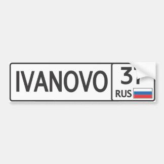 RUS. Ivanovo. 37 Pegatina Para Auto