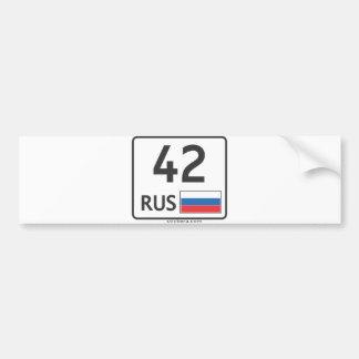 RUS. Kemerovo. 42 Pegatina Para Auto