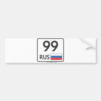 RUS. Moscow. 99. Sticker
