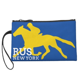 RUS NY navy logo bags and accessories