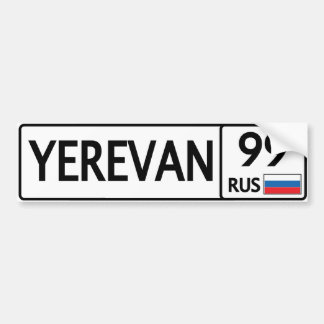 RUS. Yerevan. 99 Bumper Sticker