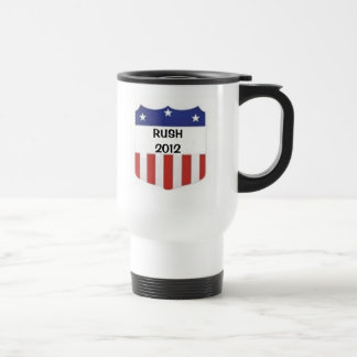Rush 2012 15 oz stainless steel travel mug
