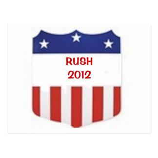Rush 2012 postcard