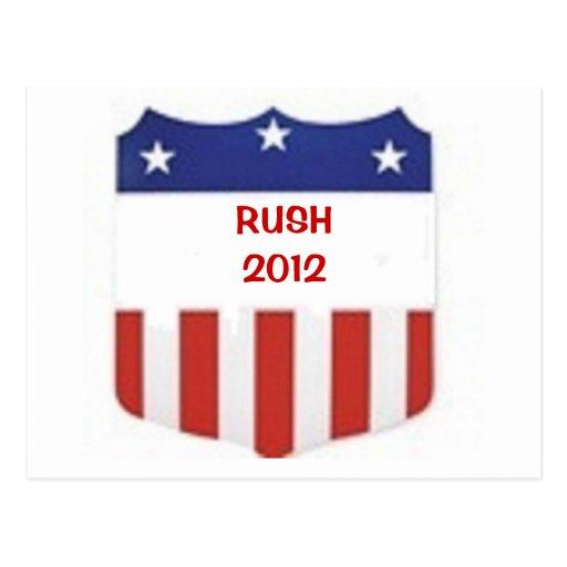 Rush 2012 postcards