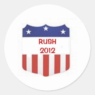 Rush 2012 round sticker
