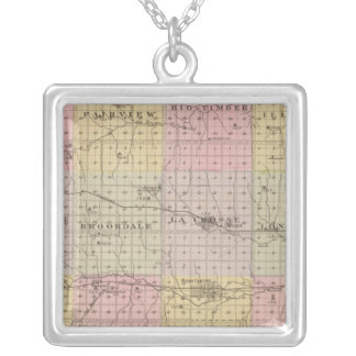 Rush County, Kansas Silver Plated Necklace