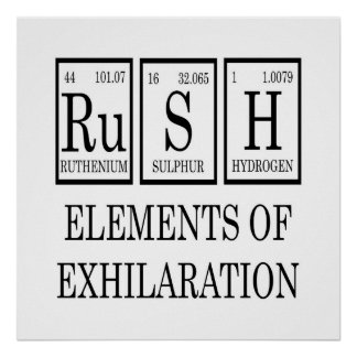 RUSH Elements Of Exhilaration Periodic Table Poster