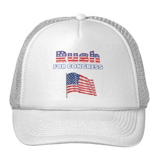 Rush for Congress Patriotic American Flag Trucker Hat