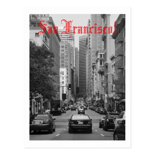 rush hour in San Francisco Post Card