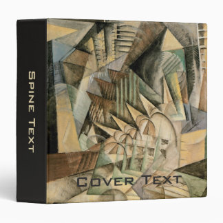 Rush Hour, New York by Max Weber, Vintage Cubism 3 Ring Binder