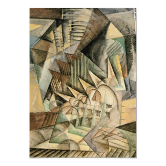 Rush Hour, New York by Max Weber, Vintage Cubism 5x7 Paper Invitation Card