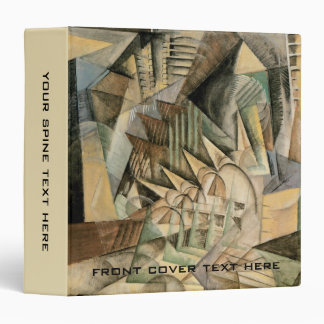 Rush Hour, New York by Max Weber, Vintage Cubism Binder