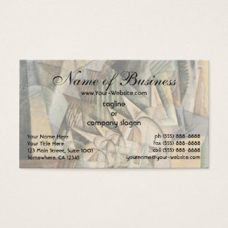 Rush Hour, New York by Max Weber, Vintage Cubism Business Card