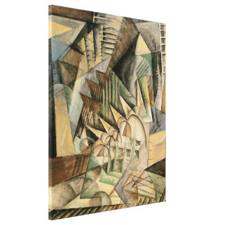 Rush Hour, New York by Max Weber, Vintage Cubism Canvas Print